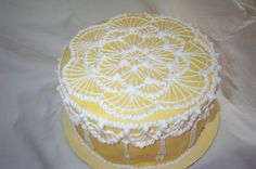 """Lace"" Royal Icing practice cake By mrskennyprice on CakeCentral.com"