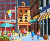 Rue St-Paul Vieux Montreal, Louise Marion.