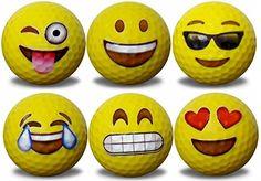 Emoji Golf Balls 6 pack Dozen Emoji Golf Balls 6 different designs Quality piece construction Gifts For Golfers, Golf Gifts, Diy Gifts, Golf Club Art, Funny Golf Shirts, Golfball, Golf Mk4, Golf Ball Crafts, Golf Club Crafts