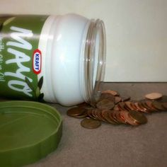 Rainy day savings jar || When going on vacation do this in the hotel room and don't put cash in a safe.