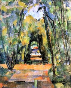 Tree Lined Lane at Chantilly / Paul Cezanne - 1898