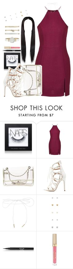 """""""Untitled #928"""" by cjasmyne ❤ liked on Polyvore featuring NARS Cosmetics, Topshop, Chanel, Charlotte Russe, Lilou, Forever 21, Stila and Anne Klein"""