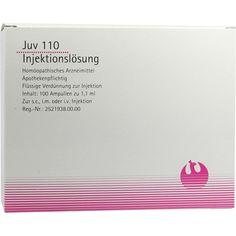 JUV 110 Ampullen:   Packungsinhalt: 100X1.1 ml Ampullen PZN: 03007445 Hersteller: PHÖNIX LABORATORIUM GmbH Preis: 73,67 EUR inkl. 19 %…