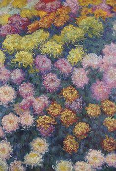 Artist-monet: Bed of Chrysanthemums, Claude Monet Monet Wallpaper, Painting Wallpaper, Post Impressionism, Impressionist Art, Pierre Auguste Renoir, Henri Matisse, Pablo Picasso, Artist Monet, Monet Paintings