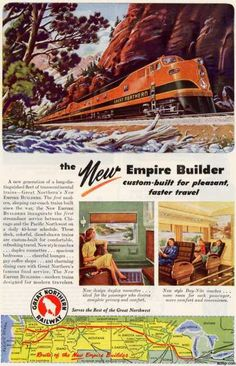 Great Northern Railway, The New Empire Builder Poster