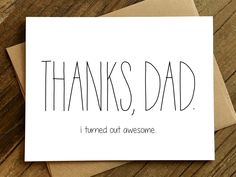 Funny Father's Day Card Father's Day Card by CheekyKumquat