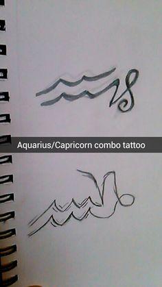 Capricorn and aquarius tattoo