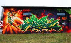 German graffiti artist MadC. (w/Bandits)