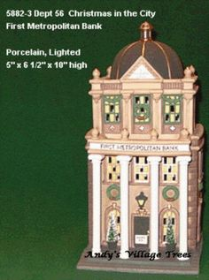 Dept 56 Christmas in the City -FIRST METROPOLITAN BANK