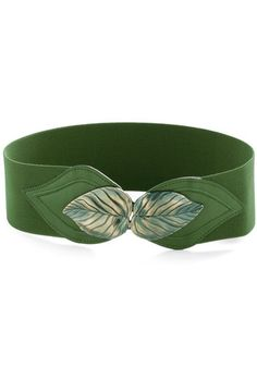Can't Leaf It Be Belt in Green, #ModCloth