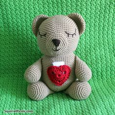Crochet Sleepy Bears to Show You Care (great for donation to children in  need! acb41f4c63bf