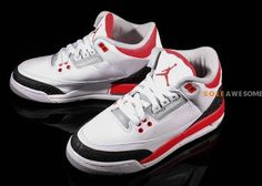 653d65e58ebfb0 Here is a look via Soleawesome at 2013 Air Jordan Fire Red III 3 Retro GS  Sneaker available there now in a few sizes
