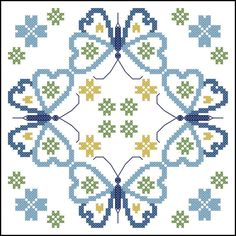 Lace Tulips Stamped Cross Stitch Quilt Blocks - x Biscornu Cross Stitch, Cross Stitch Borders, Cross Stitch Animals, Cross Stitch Kits, Cross Stitch Charts, Cross Stitch Designs, Cross Stitching, Cross Stitch Embroidery, Embroidery Patterns