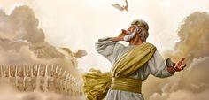 Jesus dá uma ordem aos anjos