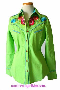 Brands :: Vintage Collection :: VINTAGE COLLECTION SPRING 2014 EMBROIDERED TONTO SHIRT! WHITE OR GREEN! - Native American Jewelry|Ladies Wes...http://www.cowgirlkim.com/cowgirl-brands/vintage-collection/vintage-collection-spring-2014-tonto-denim-embroidered-shirt.html