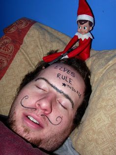 Elf On The Shelf, Funny Makeover! -- Check Out Blog For More Ideas.