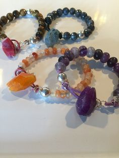 Chunky Gemstones with Fire Agate clasps now at Tate Jewelers in Memphis, TN.