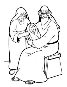 Jesus and the rich young ruler coloring sheet google for Simeon and anna coloring page