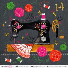 print & pattern: XMAS 2015 - miriam bos sewing machine