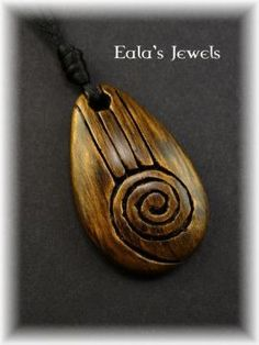 Heart of earth big drop pendant by Shatiel85