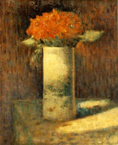 George Seurat (French, 1859-1891) - Vase of flowers