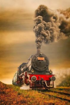 nice frontal view of steam locomotive Locomotive Diesel, Steam Locomotive, Train Tracks, Train Rides, Motor A Vapor, Old Steam Train, Train Art, Old Trains, Vintage Trains