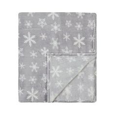 George Home Grey Snowflake Plush Throw | Home & Garden | George at ASDA