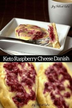 Keto Raspberry Cream Cheese Danish. This low carb Danish Recipe has a golden pastry dough topped with sweet cream cheese and raspberry is divine. Splurge on this indulgent brunch treat while sticking to your gluten free or low carb diet. Sugar-Free THM S