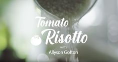 Watch Allyson Gofton make a simple Tomato Risotto recipie. Kiwi Recipes, Tomato Risotto, Watch, Simple, How To Make, Clock