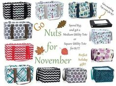 Thirty One Gifts Special November 2014 Thirty One Totes, Thirty One Party, Thirty One Gifts, November Holidays, Hello November, Thirty One Business, Thirty One Consultant, 31 Gifts, 31 Bags