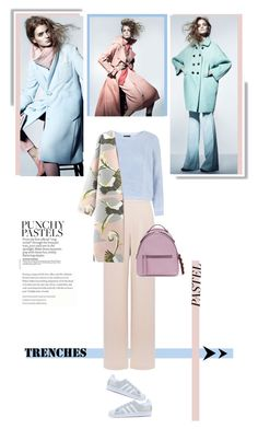 """""""Pretty Pastel Trench Coats"""" by sofirose ❤ liked on Polyvore featuring Coast, adidas Originals, Fendi, Magdalena, Topshop, women's clothing, women's fashion, women, female and woman"""