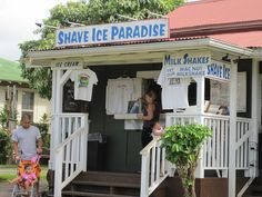Kauai - Hanalei Town - best Shave Ice on the Island