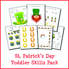 Patrick's Day Printables Bundle - Gift of Curiosity Creative Activities For Kids, Kids Learning Activities, Creative Kids, Preschool Math, Preschool Ideas, Measurement Activities, Learning Shapes, Sensory Bins, Creative Thinking