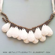 DIY Statement necklace from crafting tips & DIY project