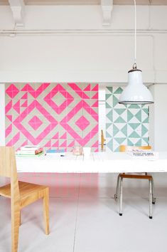 bold pink tiles