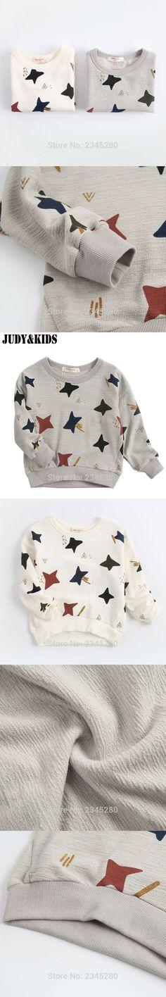 For Boys Girls Sweatshirt For Kids Raglan T Shirts Child Long Sleeve T-Shirts New Tunic Children Clothes Star JUDY&KIDS