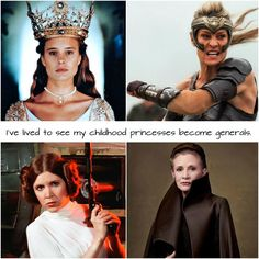 The Princess Bride Robin Wright as Buttercup and Wonder Woman as Antiope! Star Wars: Episode V - The Empire Strikes Back Carrie Fisher as Princess Leia and Star Wars: The Last Jedi as Leia Organa Marvel Dc, Cultura Nerd, Fangirl, Melinda May, Star Wars, Dc Memes, Our Lady, Girl Power, Woman Power