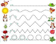 Preschool Writing, Printable Activities For Kids, Toddler Learning Activities, Preschool Learning Activities, Free Preschool, Preschool Worksheets, Prewriting Skills, Kindergarten Songs, Handwriting Activities
