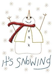 It's Snowing Sampler - 5x7 | Words and Phrases | Machine Embroidery Designs | SWAKembroidery.com HeartStrings Embroidery