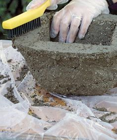 Instructions for making hypertufa planters.  I would like to try and make statues from this mix.  Maybe coat dolls?