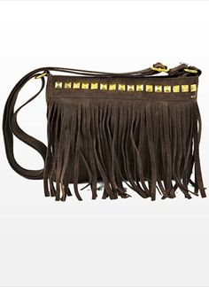 Studded Fringe Bag #boho #studded