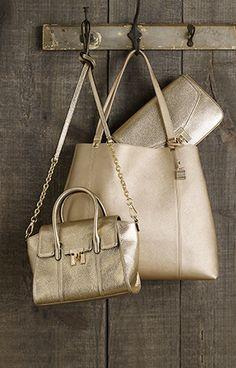 metallic gold purses #fashion #gold #purse