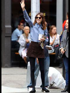 alexa ~ vintage suede skirt