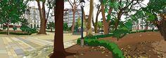 La Plaza de Azcárraga.  Lámina disponible en chiriwappa.com a partir de 100€ más gastos de envío. Plaza, Budget, Illustrations, Art
