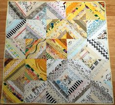 Yellow and White Strings by Ann from String Thing Along blog