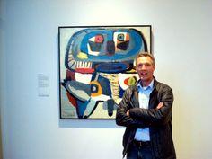 Martin Oosterwijk born 1958 (Moos) Schilderij  de vierkante man Karel Appel Rijksmuseum Amsterdam