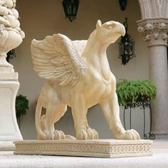 Beautiful griffin statue.