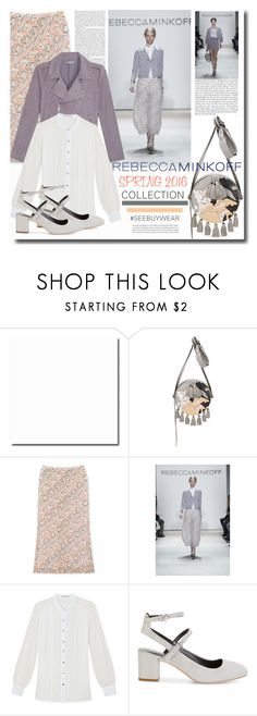 """#SEEBUYWEAR By REBECCA MINKOFF"" by chixdejesus ❤ liked on Polyvore featuring Rebecca Minkoff, women's clothing, women, female, woman, misses, juniors, contestentry, seebuywear and rmspring"