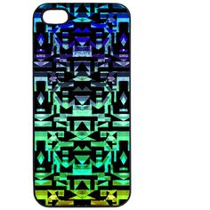 Samantha Warren London Urban Aztec Green Phone Case ($27) ❤ liked on Polyvore featuring accessories and tech accessories