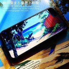 EHUKAI MORNING iPhone Case by Christie SHinn サーフガールと愛犬の絆の場所。ノースショアのエフカイビーチの光景を描いた、クリスティ・シンのiPhoneケース。#iPhoneケース #iPhone7ケース #ハワイ #hawaii  #northshore #ノースショア #dog #愛犬 #海 #beach #ビーチ #雑貨 #アクセサリー